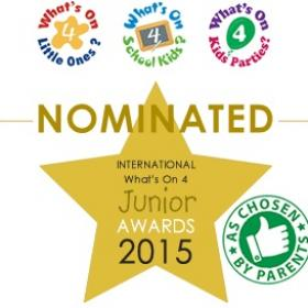 Nominated for the Whats on For Juniors Awards 2015
