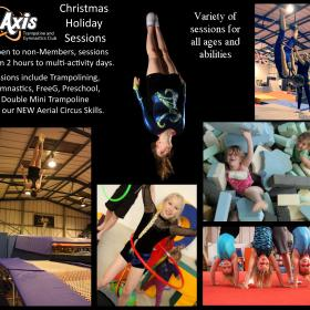 Xmas holiday sessions and closure dates